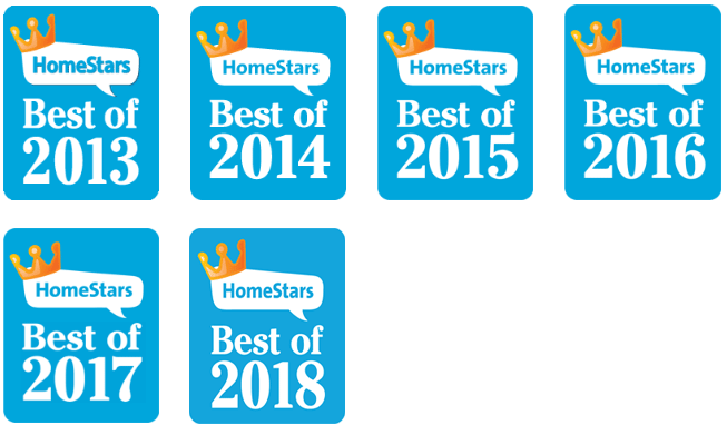 Homestars Best Of Winner - 2013 to 2018
