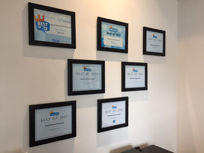 Robart Office Wall - Featuring Homestars Best Of Awards